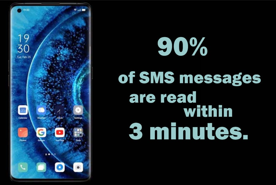 sms message read