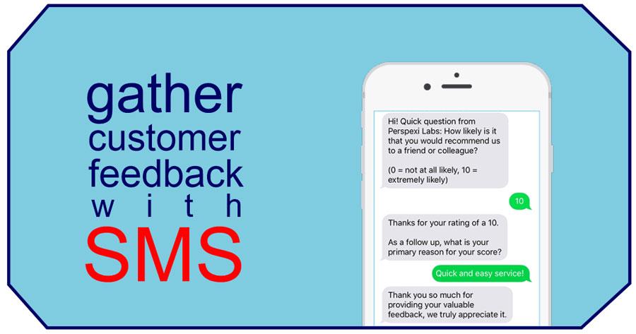 customer feedback via sms