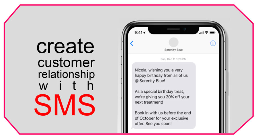customer relationship with sms