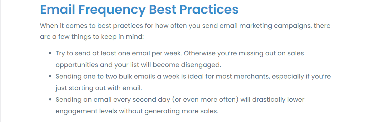email frequency best practices